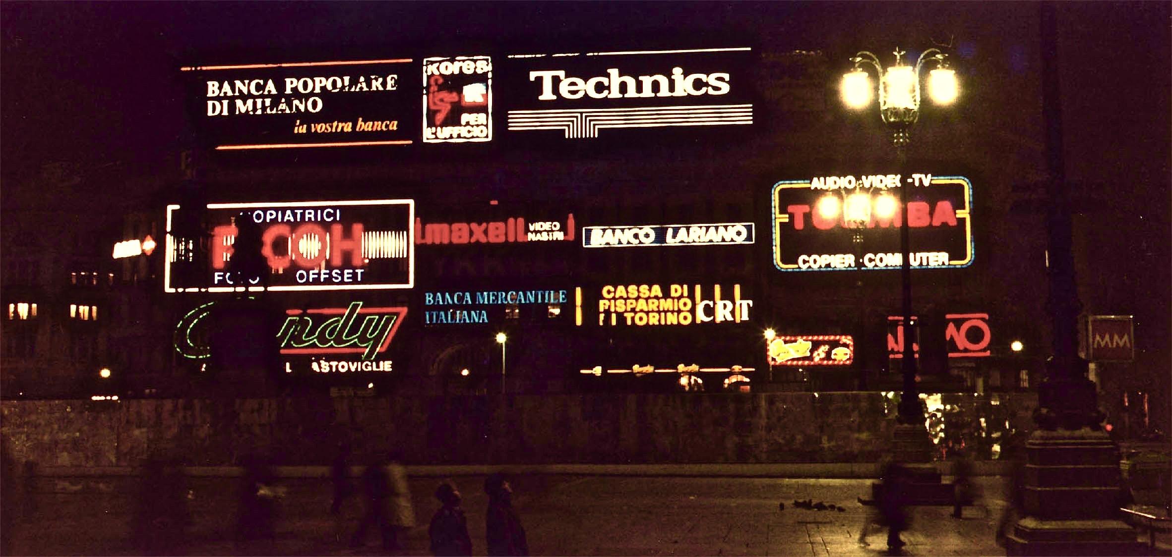 Insegne luminose piazza duomo milano clod srl for Insegne al neon milano